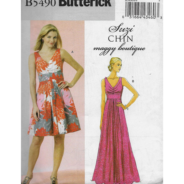 Size 16-22 Suzi Chin Dresses Butterick B5490 Maggie Boutique Sewing Pattern Uncut