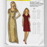 XS-XL, Connie Crawford Butterick B5430 Simple Evening and Party Dresses Sewing Pattern / Uncut