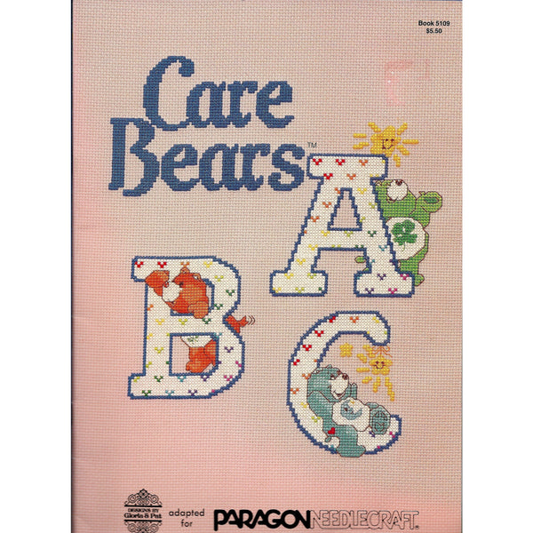 Care Bears ABC Alphabets Designs Cross Stitch Patterns - Paragon Needlecraft Book