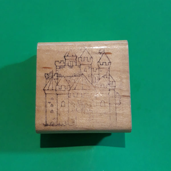 Castle, Wood Mounted Rubber Stamp, DOTS L115 Vintage Retired 1990s