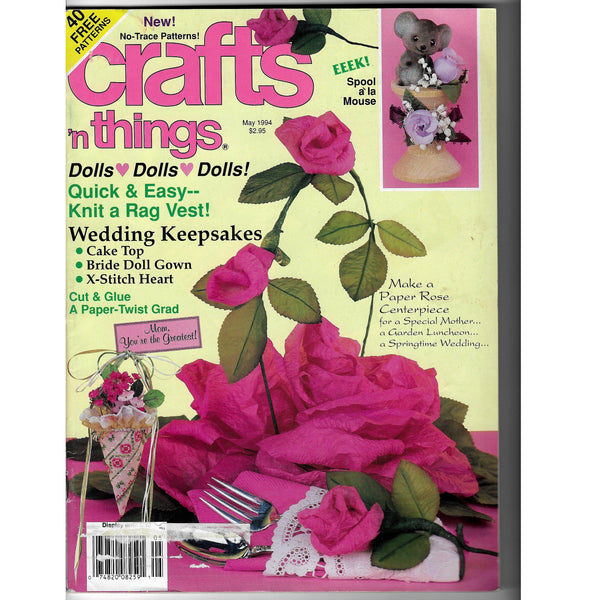 Crafts 'n Things May 1994 Magazine - 40 Free Patterns