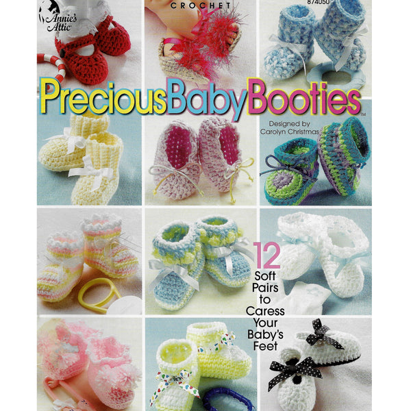 Crochet Precious Baby Booties - 12 Patterns Annie's Attic