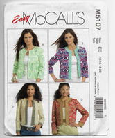 Size 14-20 Miss Petites Jacket and Flower Women McCalls M5107 Sewing Pattern Uncut