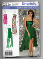 Size 4-12 Formal Special Occasions Dresses Sewing Pattern Simplicity 0222 Uncut