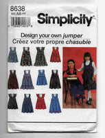 Size 3-6 Girls Design Your Own Jumpers Simplicity 8638 Sewing Pattern Uncut