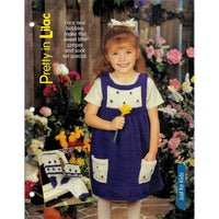 Girl's Jumper and Socks Set Knit Pattern - Pretty in Lilac with Lace and Bobbles