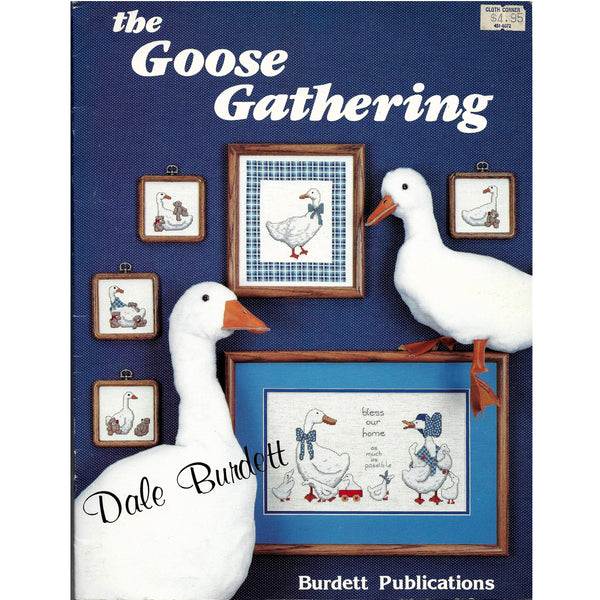 Goose Gatherings - Vintage Dale Burdett Cross Stitch Patterns - 14 Designs
