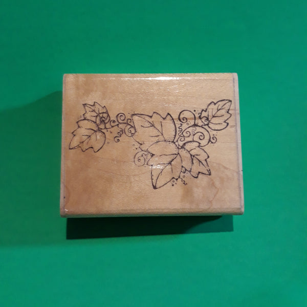 Great Vine, Wood Mounted Rubber Stamp, DOTS N188 Vintage Retired 1990s