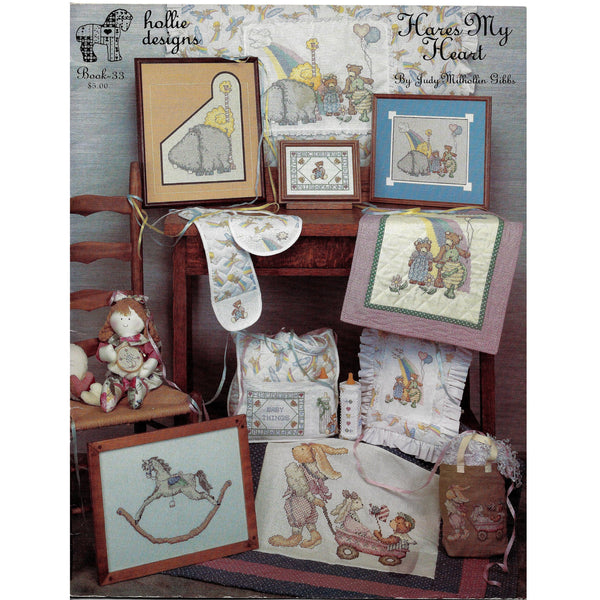 Hares Heart - Hollie Designs, Book 33 - Baby Decors Cross Stitch Designs