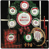 20 Counted Cross Stitch Christmas Designs, Hoop It Up, Book #203