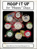 16 Counted Cross Stitch Designs, Hoop It Up for Holidays / Happy Days, Book #201