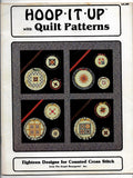 18 Counted Cross Stitch Designs, Hoop It Up with Quilt Patterns, Book #204