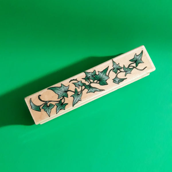 Ivy Greenery, Wood Mounted Rubber Stamp, Retired Vintage 1995 Hero Arts F191