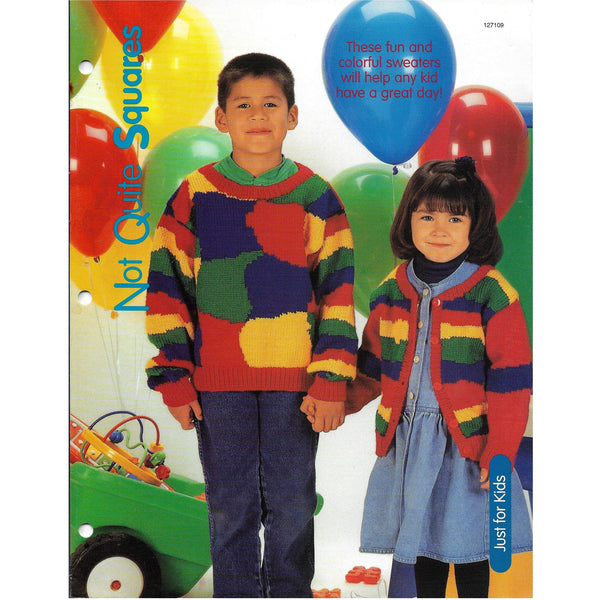 Colorful Sweater for Kids Knit Pattern - Not Quite Squares