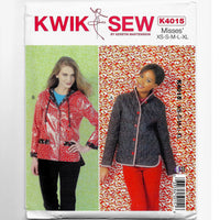 Kwik Sew K4015 Lined Jackets Sewing Pattern, Sizes XS, S, M, L, XL / Uncut