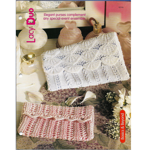 Lacy Duo Clutch Evening Purses Knit Patterns