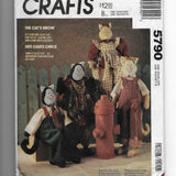 Cat Doll and Clothes Sewing Pattern McCalls Crafts 5790 Uncut