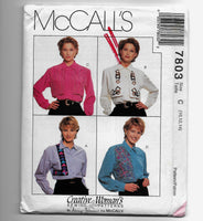Size 10-14 Creative Woman's Sewing Pattern McCalls 7803 Blouses Uncut