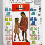 Size 7-8-10 Girls Summer Tops Shorts Skorts Sets McCalls 9369 Sewing Pattern Uncut