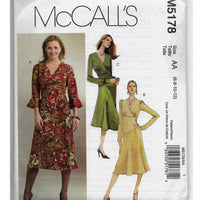 Miss Sizes 6 8 10 12 - Women Dresses Sewing Pattern McCalls M5178 Uncut