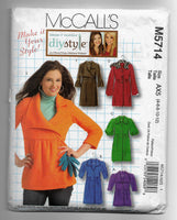 Size 4 - 12 - McCalls M5714 Women Jackets Coats Sewing Pattern - Make It Your Style / Uncut
