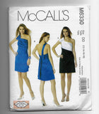 Size 12-18 Women One-Shoulder Dresses Sewing Pattern McCalls M6330 Uncut
