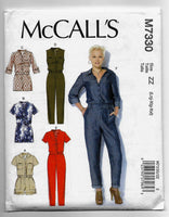 Lrg-XL-XXL Women Plus Sizes Rompers Jumpsuits McCalls M7330 Sewing Pattern Uncut