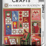 American Tradition, Christmas Holiday Quilt, Stock, Decorations Sewing Pattern, McCalls Crafts 2942, Uncut
