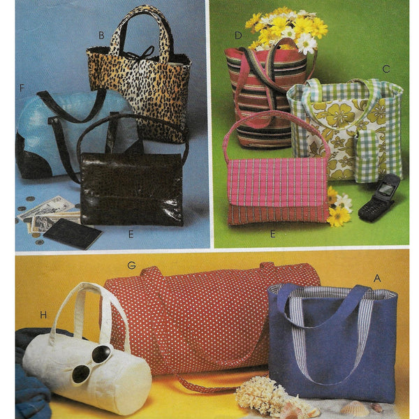 Fashion Accessories Bags/Totes, McCalls 3136 Sewing Pattern, Uncut