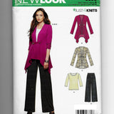 Size 10-22 Women Jackets Top Pants New Look 6330 Sewing Pattern Uncut