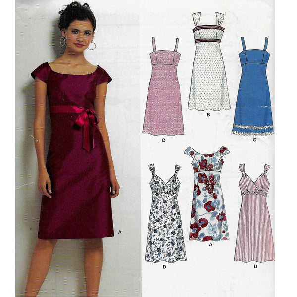 Size 6-16 New Look 6749 Cute Slim Dresses Sewing Pattern /Uncut