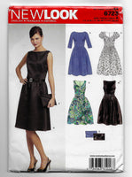 Size 8-18, New Look 6723 Misses Dresses and Clutch Purse Sewing Pattern /Uncut