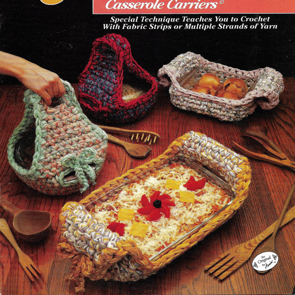 Casserole Carriers Crochet Pattern, Quick & Easy with Q Hook