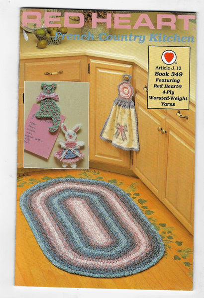 Crochet Patterns, French Country Kitchen, Red Heart Book 349