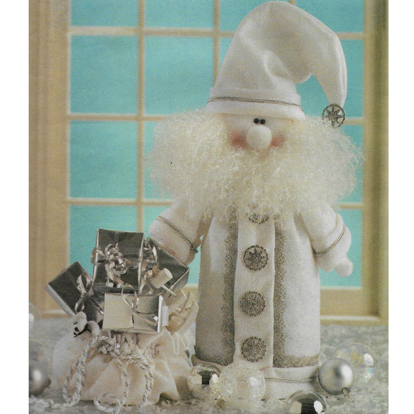 Silver & White Santa Claus McCalls Crafts 4272 Sewing Pattern, Uncut