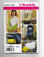 Baby Accessories Sewing Pattern Simplicity 3712 Uncut