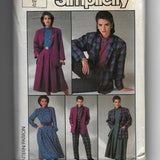 Size 14, Vintage 1980s Simplicity 7687 Women's Blouse, Jacket, Skirt, Pants Sewing Pattern / Uncut