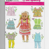 "Size 18"" Dolls Clothes Sewing Pattern Simplicity 2296 Uncut"