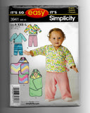 Size XXS-XS-S-M-L Baby Top Plants Blanket Wrap Simplicity 3941 Sewing Pattern