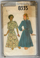 Miss 10 - Vintage 1970s Women Gathered Buttoned Cuffs Dresses Sewing Pattern Simplicity 8335