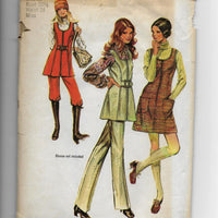 Size 10 - Vintage 70s Women Mini-Jumper Tunic Pants Sewing Pattern Simplicity 9582