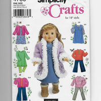 "Size 18"" Dolls Clothes Simplicity Crafts 4786 Sewing Pattern Uncut"