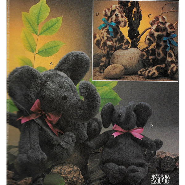 Stuffed Toy Animals Elephant & Giraffe McCalls Crafts 3903 Sewing Pattern /Uncut