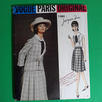 RARE Jacques Heim Jacket Skirt Suit & Blouse, 1960s Vogue Paris Original 1384 Sewing Pattern Size 14, Uncut