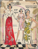 Vintage 70's Alfred Shaheen Hawaiian Dress Blouse Skirt Patterns 101, Styles 1200, 1300, 6100 /Uncut