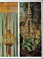 Vintage Macrame Pot Hangers Patterns Booklet - Easy to Make H-224