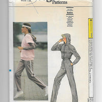 80s Vintage Vogue 8550 Jumpsuit and Top Sewing Pattern Miss 12 / Uncut