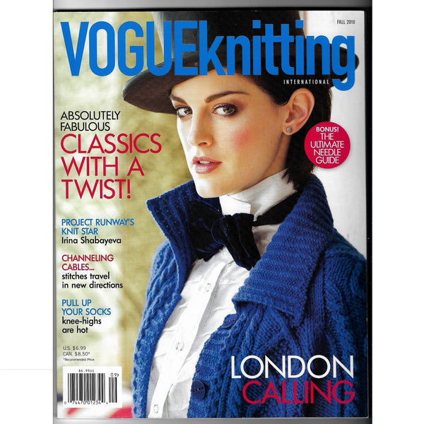 Vogue Knitting Fall 2010 Back Issue Magazine