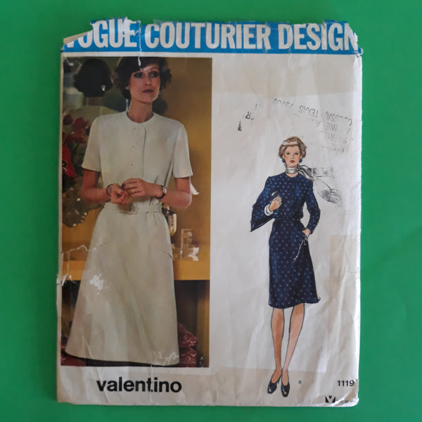 Vintage Valentino Dress Size 12, Vogue Couturier Design 1119 Sewing Pattern - UNCUT