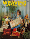 Vintage 70s Craft Patterns, Weaving On A Cardboard Loom, Make Purses, Pillows, Doll & More